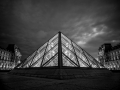 Le Louvre BW, Paris, France