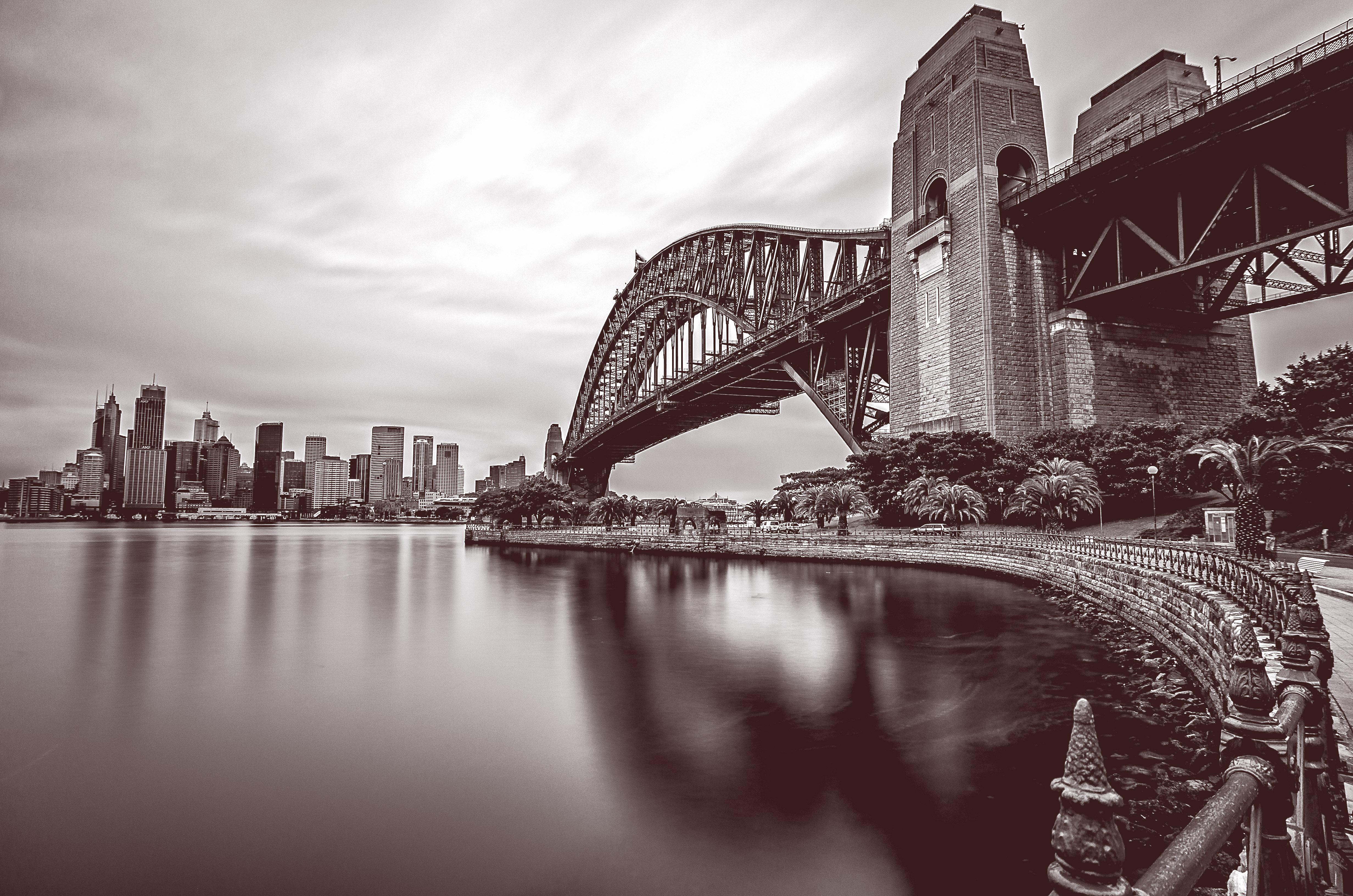 Sydney Harbour Bridge BW